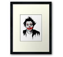 Sad Clown Framed Print