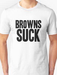 Pittsburgh Steelers - Browns suck - black Unisex T-Shirt