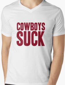 Washington Redskins - Cowboys suck - red Mens V-Neck T-Shirt