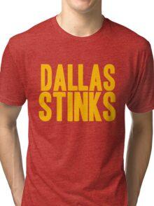 Washington Redskins - Dallas stinks - gold Tri-blend T-Shirt