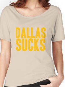 Washington Redskins - Dallas sucks - gold Women's Relaxed Fit T-Shirt
