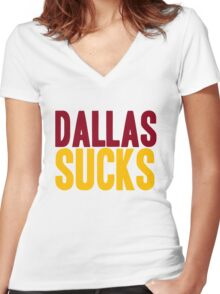 Washington Redskins - Dallas sucks - mix Women's Fitted V-Neck T-Shirt