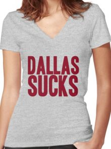 Washington Redskins - Dallas sucks - red Women's Fitted V-Neck T-Shirt