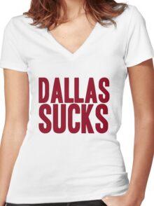 Washington Redskins - Dallas sucks - red Women's Fitted V-Neck T-Shirt