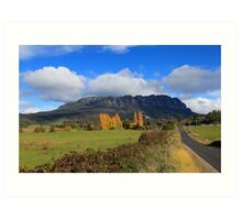 Mt Roland in Autumn Art Print