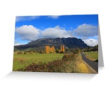 Mt Roland in Autumn Greeting Card