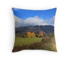 Mt Roland in Autumn Throw Pillow