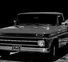 1965 Chevrolet Truck ( B&W ) by Carla Jensen