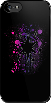 Twilight Sparkle Splattered Cutie Mark iPhone Case by tychilcote