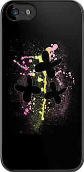 Fluttershy Splattered Cutie Mark iPhone Case by tychilcote