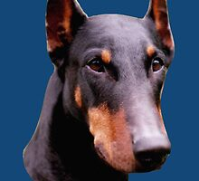Pretty Black Doberman Pinscher Face  by SmilinEyes