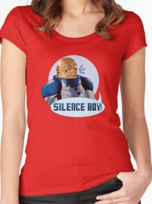 SILENCE BOY!! Women's Fitted Scoop T-Shirt