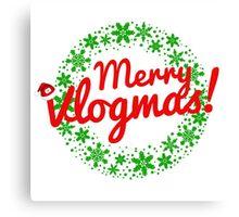 Merry Vlogmas Canvas Print