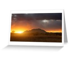 Sunset Burn Greeting Card