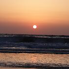 Tel Aviv Beach Sunset by Carol Singer