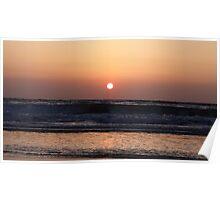 Tel Aviv Beach Sunset Poster