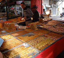 Baklava Stand, Carmel Market, Tel Aviv by Carol Singer