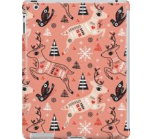 Holiday Folk in Pink Peppermint  iPad Case/Skin