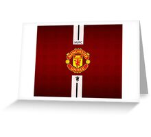 manchester united WHITE LINE Greeting Card