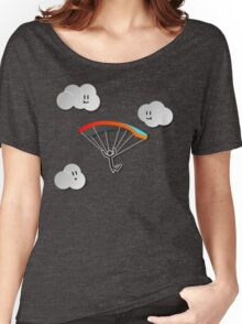 Parachute with Happy Clouds Women's Relaxed Fit T-Shirt