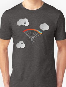 Parachute with Happy Clouds Unisex T-Shirt