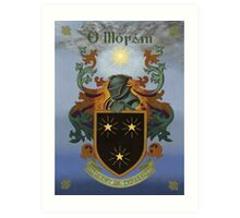 Moran Coat of Arms Art Print