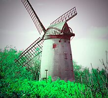 Vintage Windmill Scene by DavidWHughes
