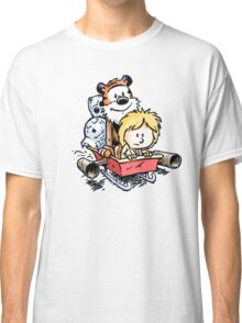 Calvin and Hobbes Inspired Stars Wars Classic T-Shirt