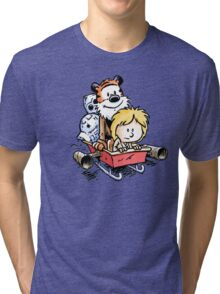 Calvin and Hobbes Inspired Stars Wars Tri-blend T-Shirt