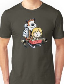 Calvin and Hobbes Inspired Stars Wars Unisex T-Shirt