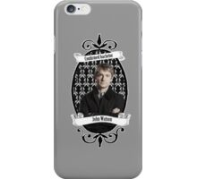 Confirmed bachelor John Watson iPhone Case/Skin