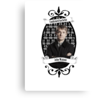 Confirmed bachelor John Watson Canvas Print