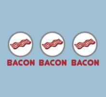 Bacon Bacon Bacon One Piece - Short Sleeve