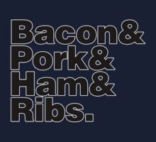 Bacon & Pork & Ham & Ribs Kids Clothes