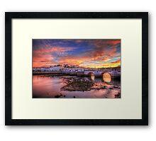 Tavira Sunset Framed Print