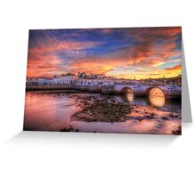 Tavira Sunset Greeting Card