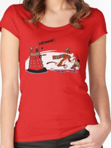 Calvin And Hobbes - Dr who Women's Fitted Scoop T-Shirt