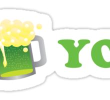 I Beer You St Patricks Day Sticker