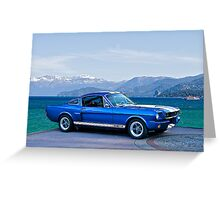 1965 Shelby Mustang G.T.350 Greeting Card