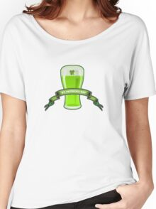 St Patricks Day Beer Glass Women's Relaxed Fit T-Shirt