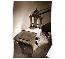 Church chair. Poster