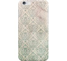 Vintage Soiled and Green Floral Wallpaper iPhone Case/Skin