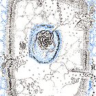 Eukaryotic, hand drawn ACEO  by Regina Valluzzi