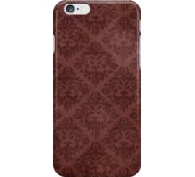 Vintage Red Floral Wallpaper iPhone Case/Skin