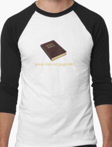 Jesus Dies on Page 681 Men's Baseball ¾ T-Shirt