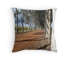 Avenue of Trees Throw Pillow