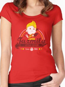Tazmily little league Women's Fitted Scoop T-Shirt