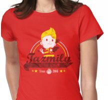 Tazmily little league Womens Fitted T-Shirt