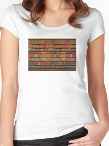 Vintage Library at Chateau Chantilly, Paris FRANCE Women's Fitted Scoop T-Shirt