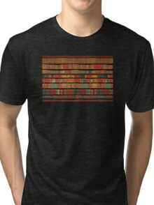 Vintage Library at Chateau Chantilly, Paris FRANCE Tri-blend T-Shirt